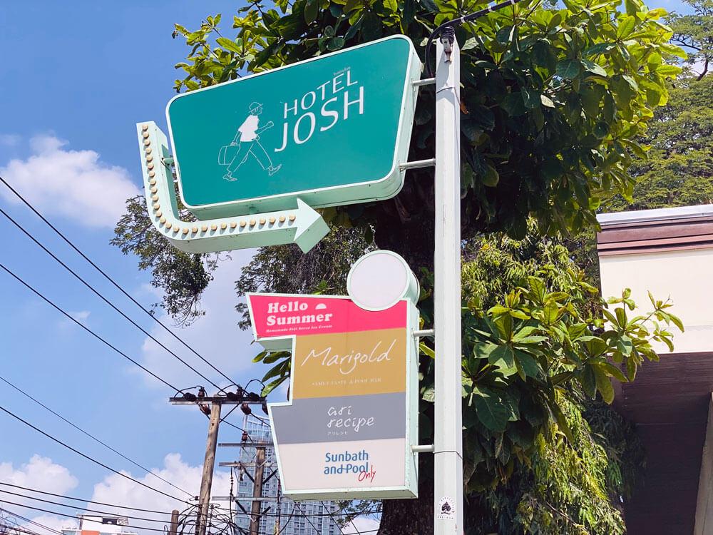 Sign Josh Hotel